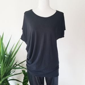 Athleta Threadlight Relaxed T Shirt Sz S Black